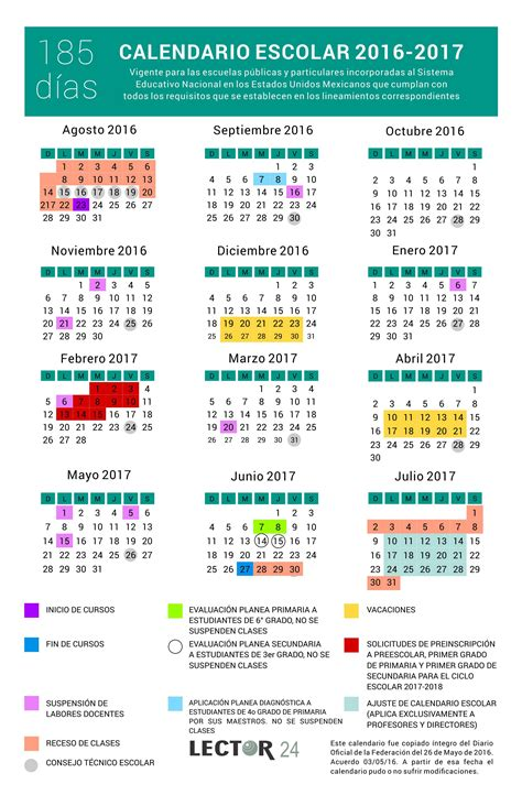 Calendario 2018 Mexico Sep Calendario Escolar 2016 2017 Conocelo A Detalle Sep De