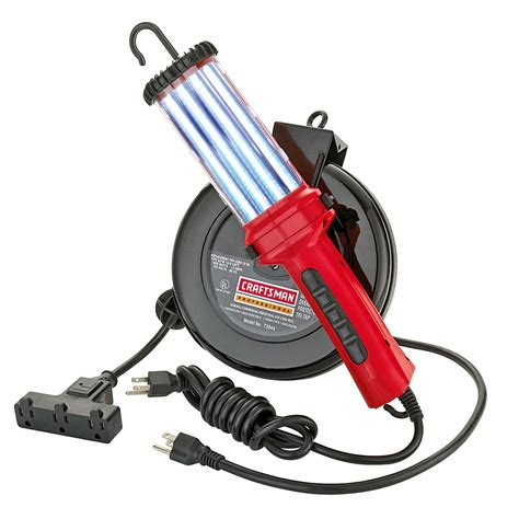 snap on retractable work light craftsman cord reel with 26 watt fluorescent work light