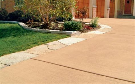 Dress up driveways with color