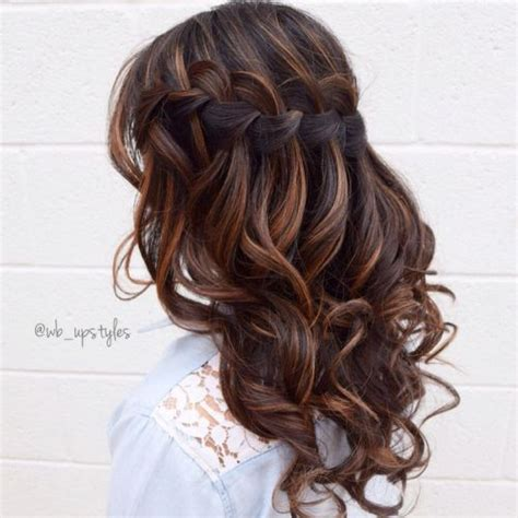 prom hairstyles brown hair 85 best prom hair down styles straight curly retro