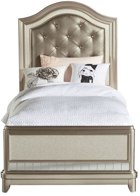 upholstered twin bed li l diva twin upholstered panel bed from samuel lawrence 8874 530 531 401 coleman