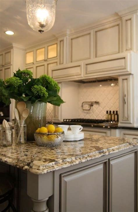 painted kitchen island ideas ivory kitchen cabinets ivory kitchen and brown granite on
