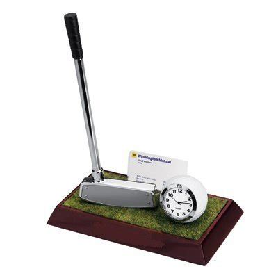 Golf Desk Accessories Golf Desktop Set With Business Cards Holder