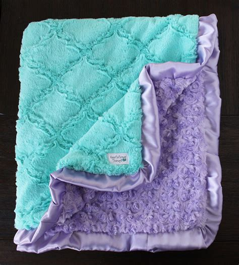 Blankets For Babies by Minky Blanket Baby Blanket For Aqua And Lavender