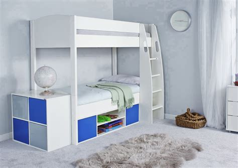 loft bed with storage stompa unos detachable storage bunk bed frame and underbed