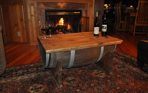 Whiskey Barrel Coffee Table How To Build A Whiskey Barrel Coffee Table
