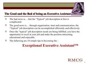 administrative assistant goals and objectives templates