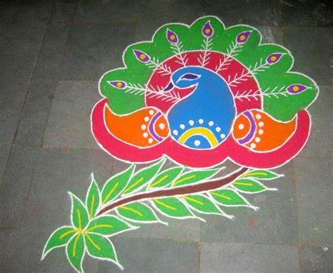 beautiful designs beautiful simple peacock rangoli designs images