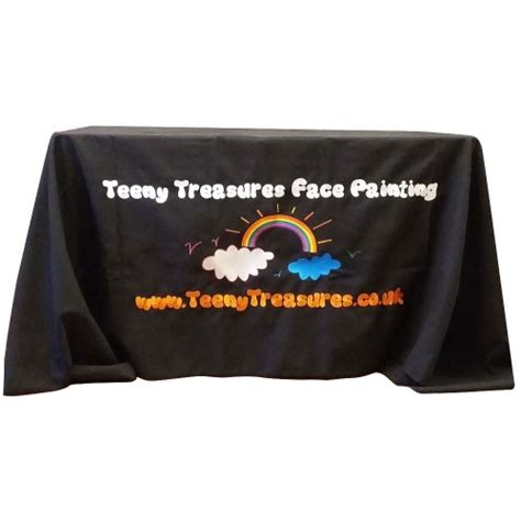 embroidered logo tablecloth add your logo in high