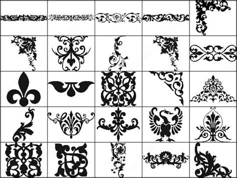 Pattern Brushes For Photoshop Cs3 Free Download | ornament border photoshop brushes download 127 photoshop