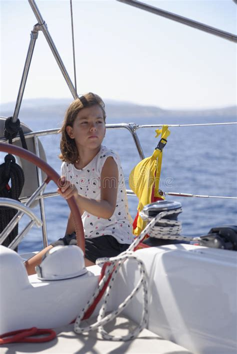 girls on boats girl on sailing boat stock photo image of cute