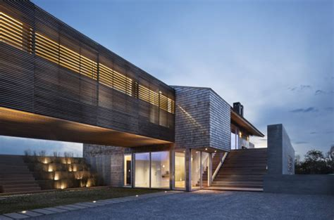 rustic ranch house where 2 volumes 1 bridge a cool design modern house designs