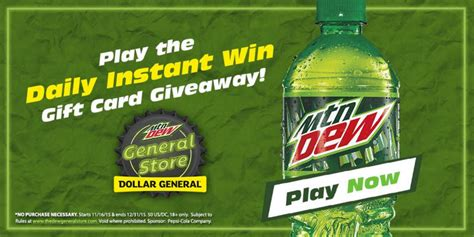 Dew General Store Sweepstakes - enter now mountain dew sweepstakes at dollar general the coupon challenge