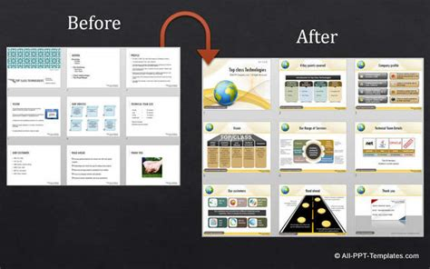 Powerpoint Design Makeover Exles Corporate Presentation Ppt Templates