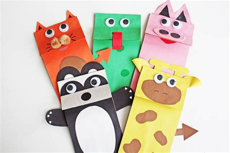 How To Make Animal Puppets For With Paper - paper bag jungle animal puppets