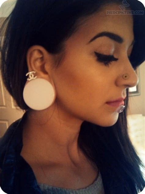 female ear lobes stretched lobe piercing askideas com