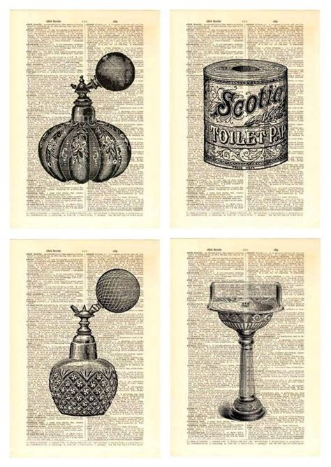 Vintage Decor Vintage Wall Poster upcycled vintage dictionary book page wall prints bathroom laundry ebay