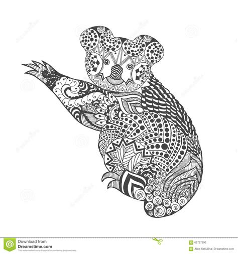 zentangle stylized koala stock vector image of bear