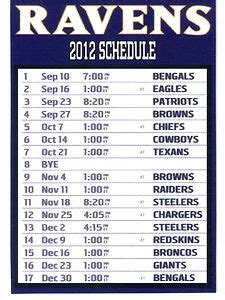printable ravens schedule 24 best images about sports on pinterest patriots this