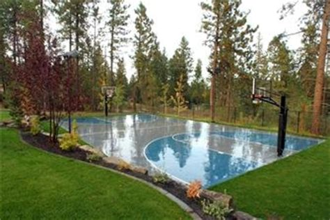 Backyard Pool And Basketball Court by The World S Catalog Of Ideas