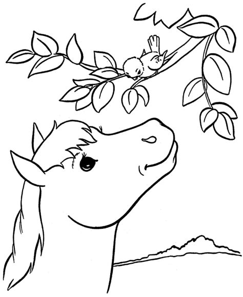 free coloring book pages of horses coloring page coloring home