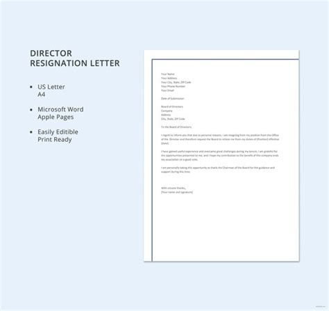 resignation letter template australia taboos