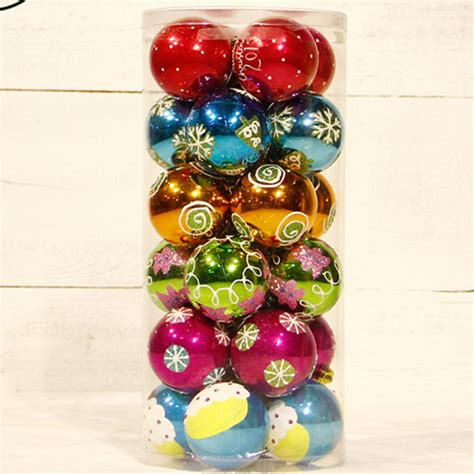 24pcs 6cm wholesale top quality luxury plastic christmas