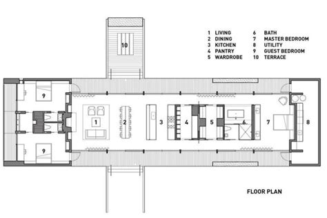 straight floor plan the architect is in a low impact summer house on orcas