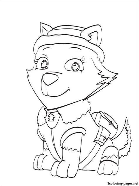 free skye paw patrol coloring pages