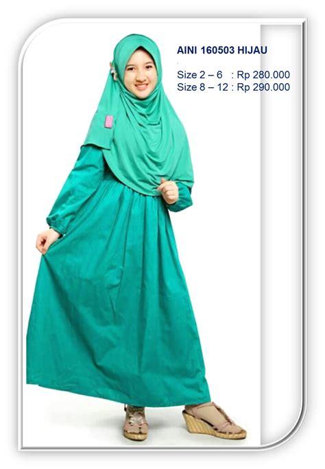 Gamis Anak Keke Kk 376 gamis anak syar i terbaru aini 160503 hijau jual baju