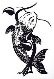 koi fish tribal clipart best