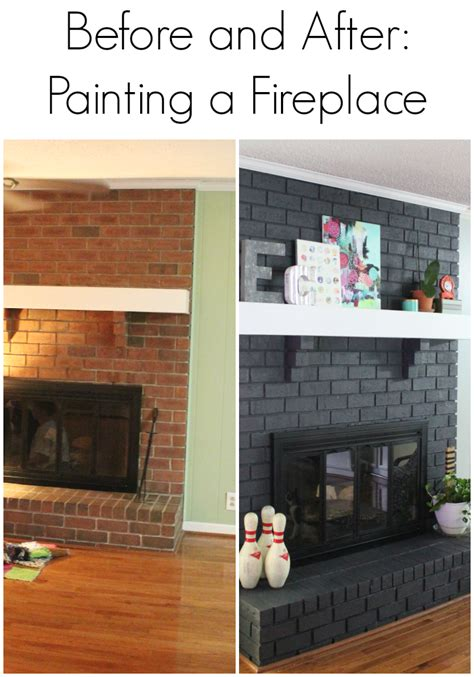 painted fireplace image result for painted brick fireplace before and after