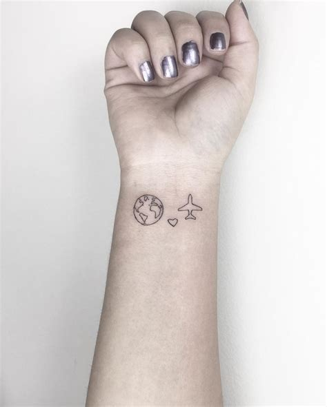 small travel tattoo 25 best ideas about plane on airplane