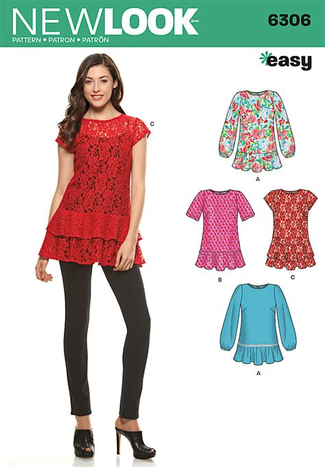pattern review for new look 6302 new look 6306 misses pullover tops