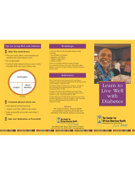 simple diabetes brochure template free download