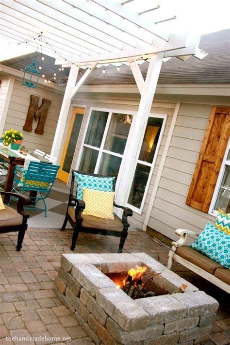 backyard bliss installing patio pavers   fire pit