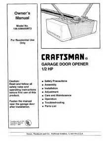 craftsman garage door troubleshooting craftsman garage door opener 139 53664srt2 user guide
