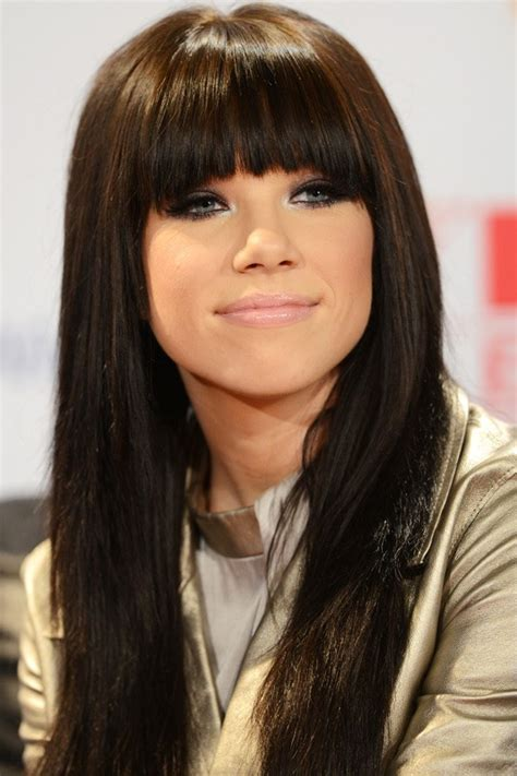carly rae jepsen hairstyle back nine blunt bangs ideas for your next haircut from the