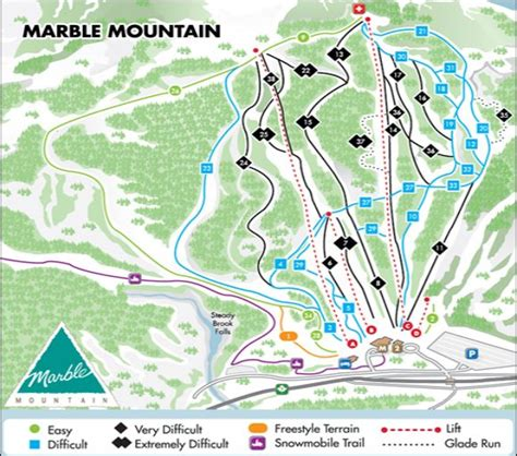Online Resume Submit For Jobs by Marble Mountain Trail Map Skiing Snowboarding Escape2ski
