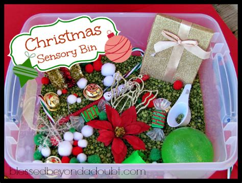 Christmas Craft Ideas For Kids To Make - make a christmas sensory bin blessed beyond a doubt