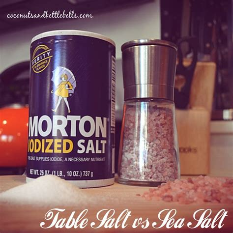 difference between sea salt and table salt for piercings table salt vs sea salt what s the difference table salt
