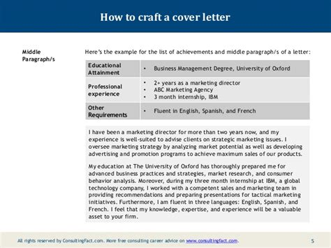 Motivation Letter Oxford Consulting Cover Letter Exles