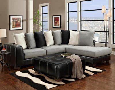 black vinyl grey fabric modern sectional sofa woptions