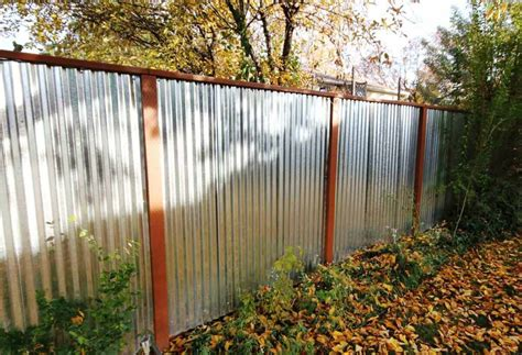 corrugated metal privacy fence 15 most beautiful steel