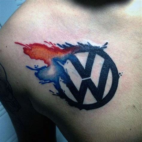 wv tattoos designs 50 volkswagen vw tattoos for automotive design ideas