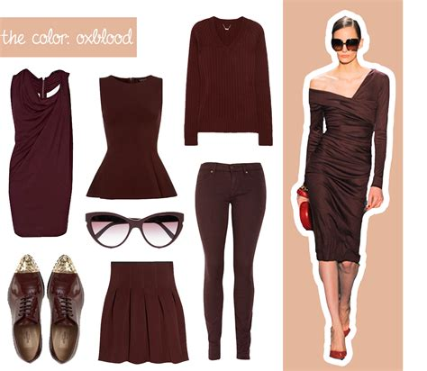 what color is oxblood trend alert oxblood
