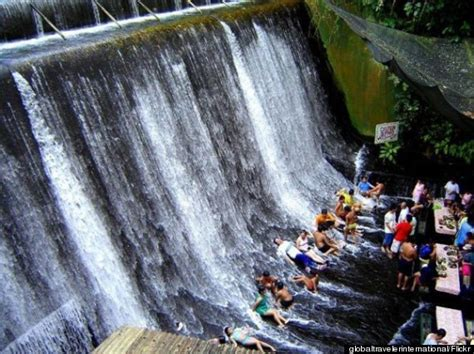 villa escudero waterfalls restaurant when the best seat in the house requires a bathing suit