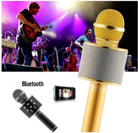 ws  microphone wireless speaker portable karaoke hifi