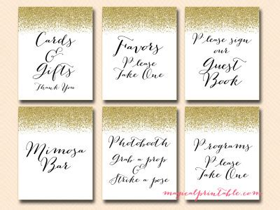 free printable bridal shower welcome sign printable gold glitter wedding signage bridal baby shower