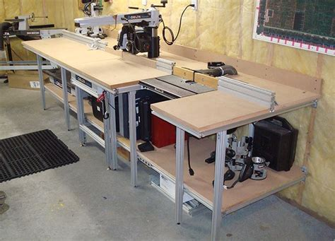 workshop bench ideas 17 best images about workshop radial arm saw on pinterest workbenches craftsman and